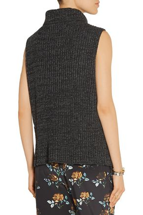 THAKOON Split-front merino wool sweater