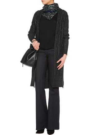 10 CROSBY DEREK LAM Cable-knit cotton-blend cardigan