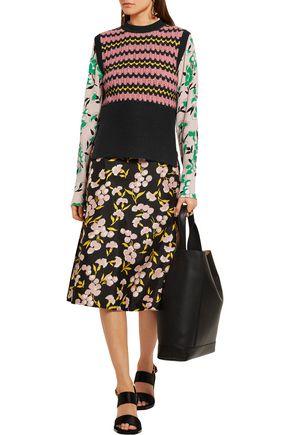 MARNI Wool-blend crochet-knit sweater