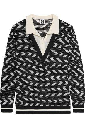 M MISSONI Layered crochet-knit sweater