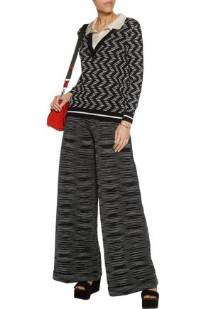 M MISSONI Layered crochet-knit sweater