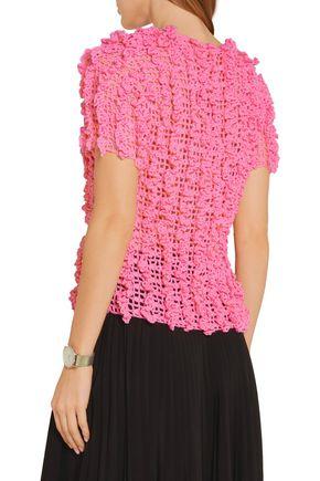 COMME DES GARÇONS GIRL Ruffled crochet-knit sweater
