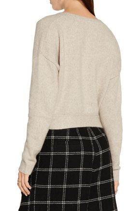 ELIZABETH AND JAMES Barrett tie-front wool-blend sweater
