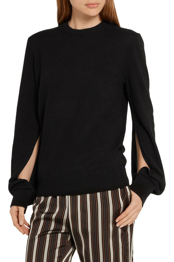 Split-cuff cashmere sweater | MICHAEL KORS COLLECTION | Sale up to 70% off  | THE OUTNET