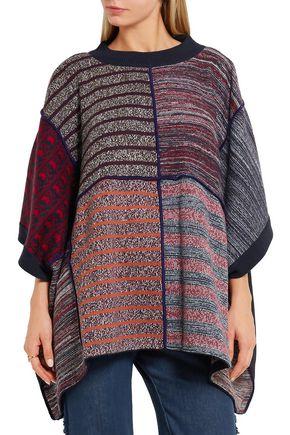 SEE BY CHLOÉ Jacquard-knit poncho