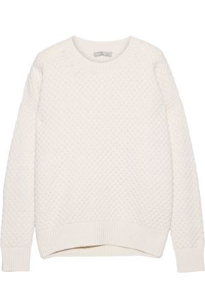 VINCE. Honeycomb-knit wool and yak-blend sweater