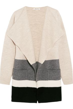 MADEWELL Meridian striped boiled wool cardigan
