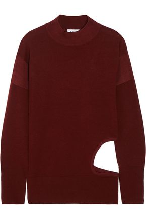 DKNY Cutout stretch-merino wool sweater