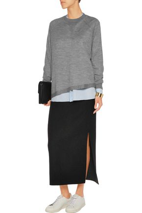 JOSEPH Asymmetric merino wool sweater