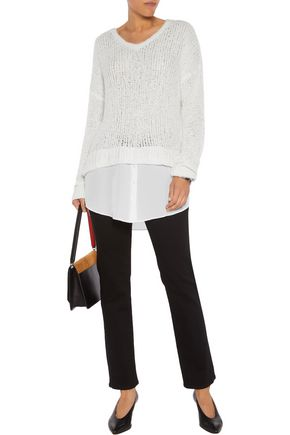 LINE Emerson open-knit cotton-blend sweater