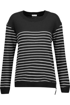 SPLENDID Adelaide striped cotton-blend sweater