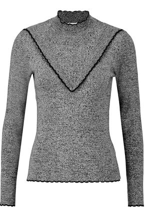 GANNI Ribbed-knit turtleneck sweater