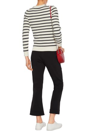 GANNI Striped cotton-blend sweater