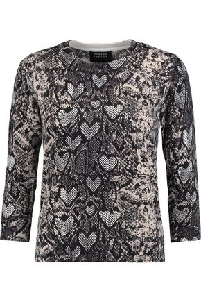 MARKUS LUPFER Snake-print cotton sweater
