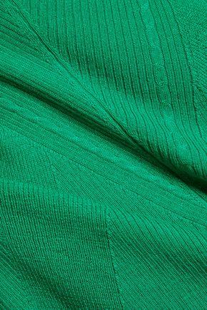 DIANE VON FURSTENBERG Alycia ribbed wool and silk-blend sweater