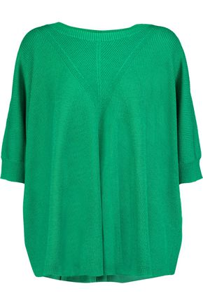 DIANE VON FURSTENBERG Alycia ribbed wool and silk-blend sweater