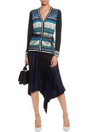 DIANE VON FURSTENBERG Printed cotton-blend cardigan