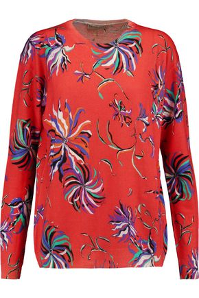 EMILIO PUCCI Printed wool-jersey sweater