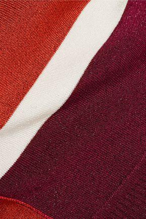 EMILIO PUCCI Metallic stretch-knit turtleneck top