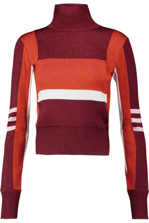 EMILIO PUCCI Metallic stretch-knit turtleneck top