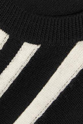 CHINTI AND PARKER Striped intarsia merino wool sweater