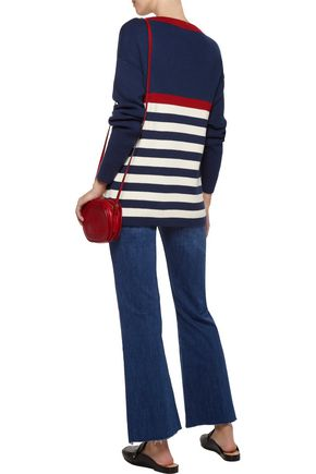 M.I.H JEANS Dear John Breton ribbed striped cotton sweater