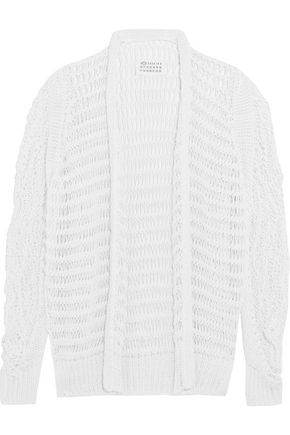 MAISON MARGIELA Open-knit cotton-blend cardigan