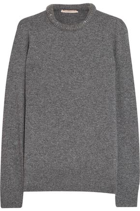 CHRISTOPHER KANE Crystal-embellished wool-blend sweater