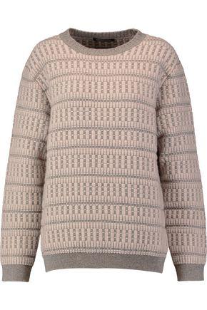 AGNONA Jacquard-knit cashmere sweater
