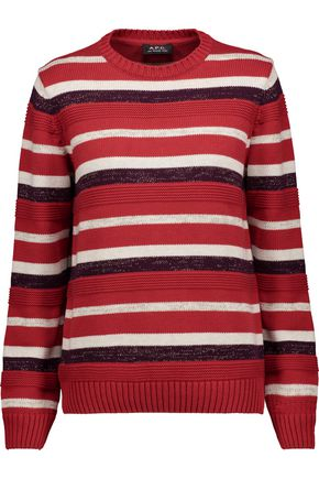A.P.C. Harper metallic striped cotton-blend sweater