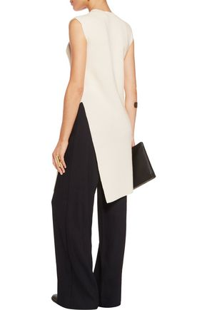 HELMUT LANG Ribbed wool and cashmere-blend tunic