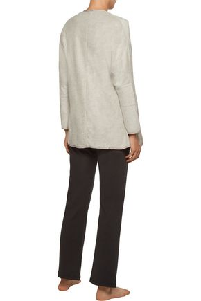 EBERJEY Norman brushed modal-blend terry cardigan