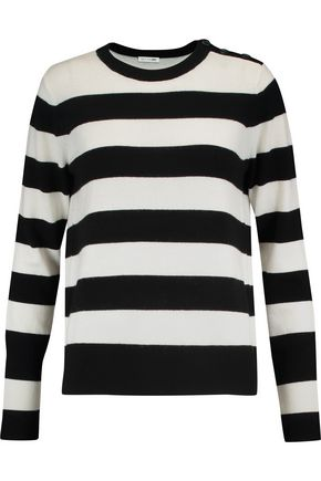 RAG & BONE Striped cashmere and wool-blend sweater