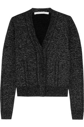 DIANE VON FURSTENBERG Adelyn metallic wool-blend cardigan