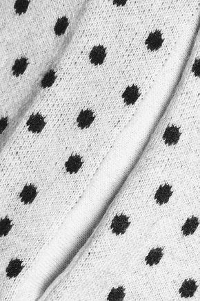 HALSTON HERITAGE Polka dot wool-blend top