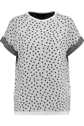 HALSTON HERITAGE Polka dot wool-blend top