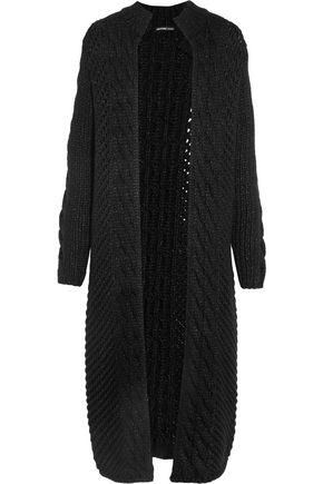 JAMES PERSE Cable-knit wool-blend cardigan