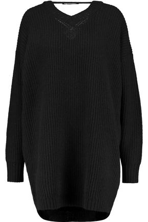 •ELLERY• Napoleon open-back ribbed wool sweater