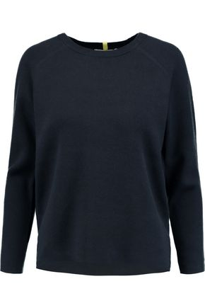 DUFFY Cotton and cashmere-blend sweater
