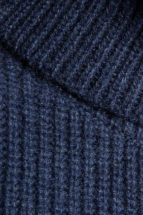 MAGASCHONI Ribbed wool and cashmere-blend turtleneck sweater
