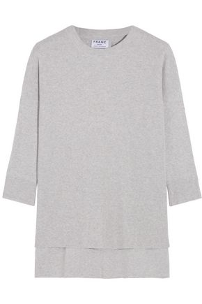 BY FRAME Le Boxy cotton, silk and cashmere-blend sweater