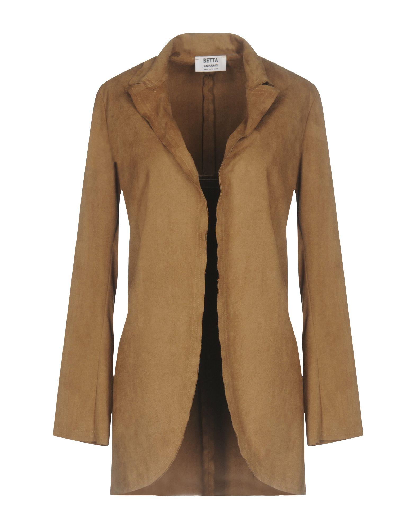 《送料無料》BETTA CORRADI レディース テーラードジャケット ブラウン M ポリエステル 100%