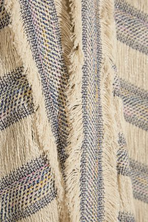 MAJE Woven cotton-blend cardigan