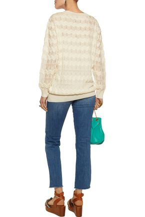 M MISSONI Maglia crochet-knit wool-blend sweater