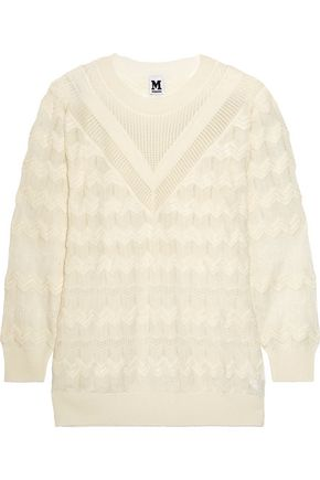 M MISSONI Crochet-knit wool-blend sweater