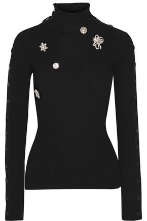 PREEN by THORNTON BREGAZZI Mara embellished wool sweater