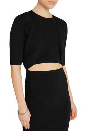 MICHAEL KORS COLLECTION Cropped stretch-knit cardigan