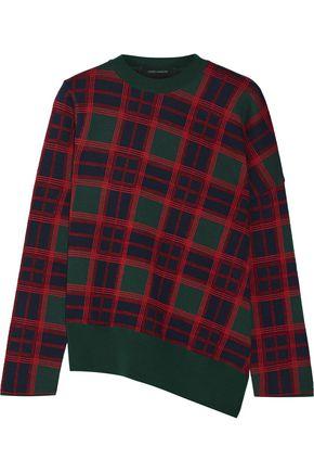 CEDRIC CHARLIER Plaid wool sweater