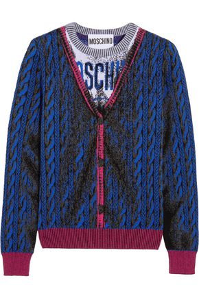 MOSCHINO Intarsia wool sweater