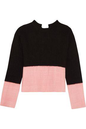 MARNI Tie-back two-tone cashmere sweater